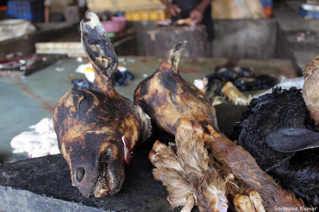 Goat Meat - in the meat market - Lakshitha S